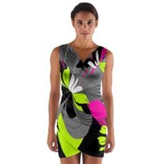 Abstract Illustration Nameless Fantasy Wrap Front Bodycon Dress by Nexatart