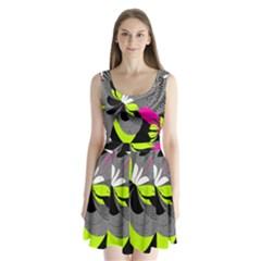 Abstract Illustration Nameless Fantasy Split Back Mini Dress