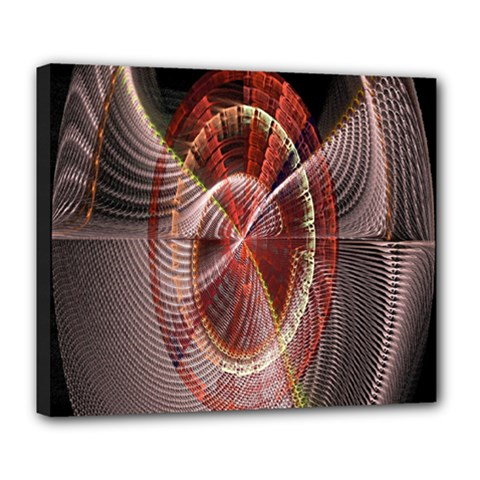 Fractal Fabric Ball Isolated On Black Background Deluxe Canvas 24  X 20