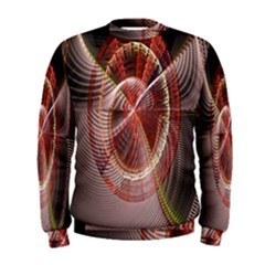Fractal Fabric Ball Isolated On Black Background Men s Sweatshirt by Nexatart