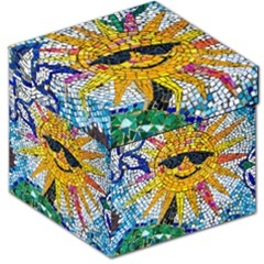 Sun From Mosaic Background Storage Stool 12   by Nexatart