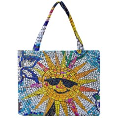 Sun From Mosaic Background Mini Tote Bag by Nexatart