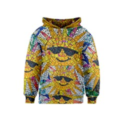 Sun From Mosaic Background Kids  Pullover Hoodie
