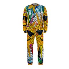 Sun From Mosaic Background Onepiece Jumpsuit (kids) by Nexatart