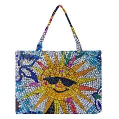 Sun From Mosaic Background Medium Tote Bag by Nexatart