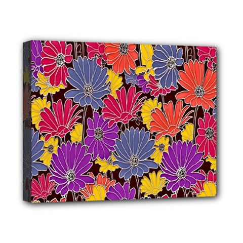 Colorful Floral Pattern Background Canvas 10  X 8  by Nexatart
