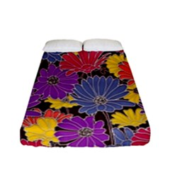 Colorful Floral Pattern Background Fitted Sheet (full/ Double Size) by Nexatart