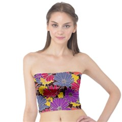 Colorful Floral Pattern Background Tube Top by Nexatart