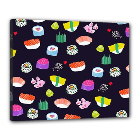 Japanese Food Sushi Fish Canvas 20  X 16  by Mariart
