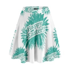 Happy Easter Theme Graphic Print High Waist Skirt by dflcprintsclothing