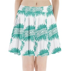 Happy Easter Theme Graphic Print Pleated Mini Skirt by dflcprintsclothing