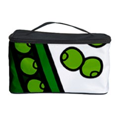 Peas Green Peanute Circle Cosmetic Storage Case by Mariart