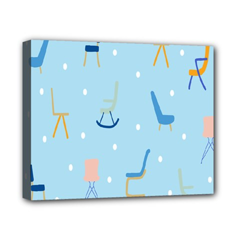 Seat Blue Polka Dot Canvas 10  X 8  by Mariart