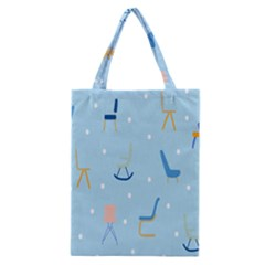 Seat Blue Polka Dot Classic Tote Bag by Mariart