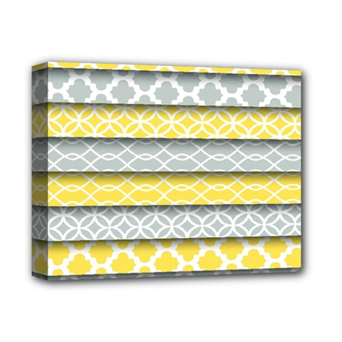 Paper Yellow Grey Digital Deluxe Canvas 14  X 11  by Mariart