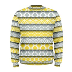 Paper Yellow Grey Digital Men s Sweatshirt