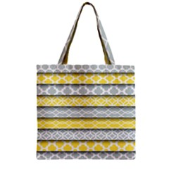 Paper Yellow Grey Digital Zipper Grocery Tote Bag by Mariart