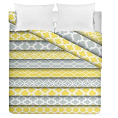 Paper Yellow Grey Digital Duvet Cover Double Side (queen Size) by Mariart