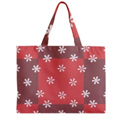 Seed Life Seamless Remix Flower Floral Red White Zipper Mini Tote Bag by Mariart