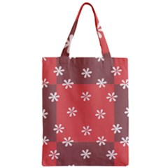 Seed Life Seamless Remix Flower Floral Red White Zipper Classic Tote Bag by Mariart