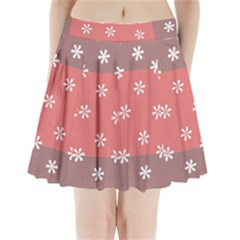 Seed Life Seamless Remix Flower Floral Red White Pleated Mini Skirt by Mariart
