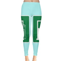 Traffic Signs Hospitals, Airplanes, Petrol Stations Leggings  by Mariart