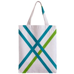 Symbol X Blue Green Sign Zipper Classic Tote Bag by Mariart