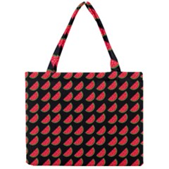 Watermelon Slice Red Black Fruite Mini Tote Bag by Mariart