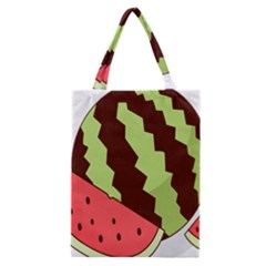 Watermelon Slice Red Green Fruite Circle Classic Tote Bag by Mariart