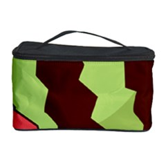 Watermelon Slice Red Green Fruite Circle Cosmetic Storage Case by Mariart