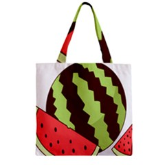 Watermelon Slice Red Green Fruite Circle Zipper Grocery Tote Bag by Mariart