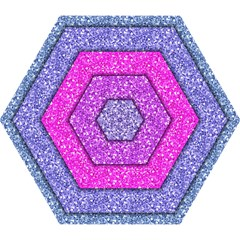 Violet Girly Glitter Pink Blue Mini Folding Umbrellas by Mariart