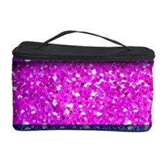 Violet Girly Glitter Pink Blue Cosmetic Storage Case by Mariart