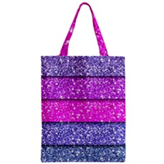 Violet Girly Glitter Pink Blue Zipper Classic Tote Bag by Mariart