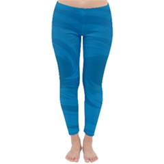 Whirlpool Hole Wave Blue Waves Sea Classic Winter Leggings by Mariart