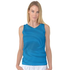 Whirlpool Hole Wave Blue Waves Sea Women s Basketball Tank Top by Mariart
