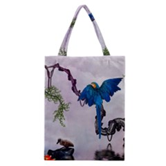 Wonderful Blue Parrot In A Fantasy World Classic Tote Bag by FantasyWorld7