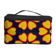 Yellow Flowers Pattern         Cosmetic Storage Case by LalyLauraFLM