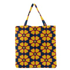 Yellow Flowers Pattern         Grocery Tote Bag by LalyLauraFLM