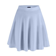 Solid Alice Blue in an English Country Garden Wedding High Waist Skirt by PodArtist