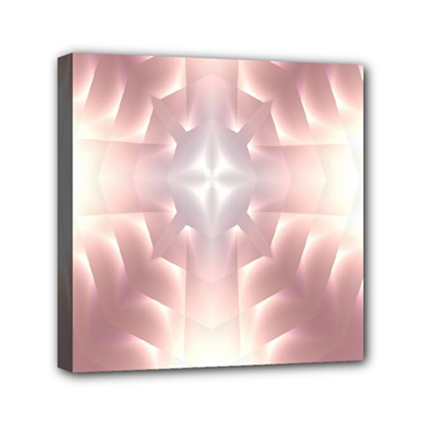 Neonite Abstract Pattern Neon Glow Background Mini Canvas 6  X 6