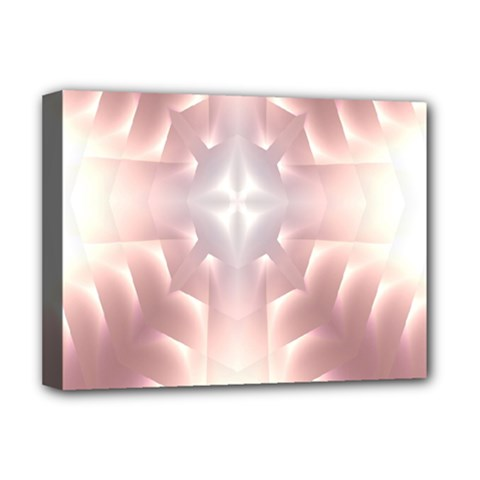 Neonite Abstract Pattern Neon Glow Background Deluxe Canvas 16  X 12