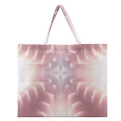 Neonite Abstract Pattern Neon Glow Background Zipper Large Tote Bag by Nexatart