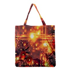 Summer Evening Grocery Tote Bag by Nexatart