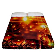 Summer Evening Fitted Sheet (california King Size) by Nexatart