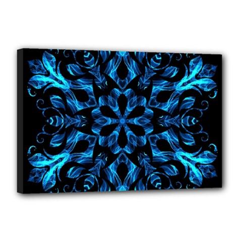 Blue Snowflake Canvas 18  X 12