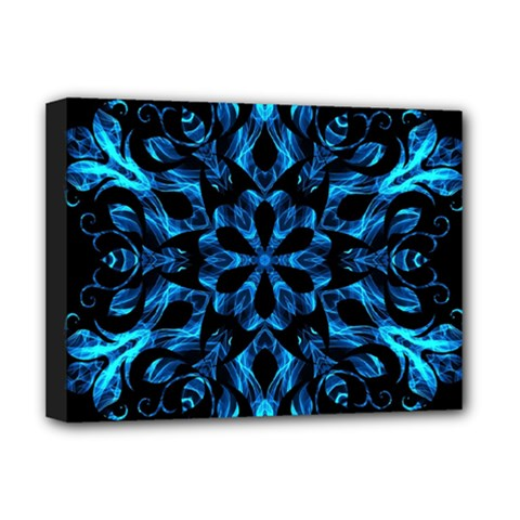 Blue Snowflake Deluxe Canvas 16  X 12