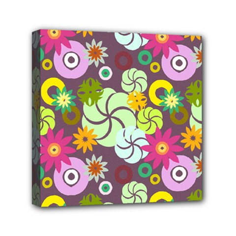 Floral Seamless Pattern Vector Mini Canvas 6  X 6  by Nexatart