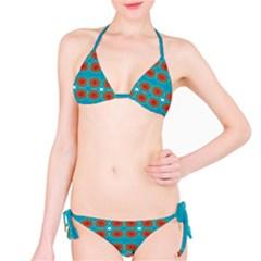 Floral Seamless Pattern Vector Bikini Set