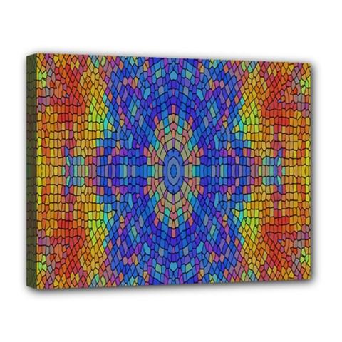 A Creative Colorful Backgroun Canvas 14  X 11  by Nexatart